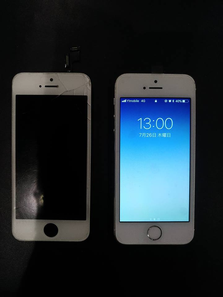 iPhone5s ガラス割れ修理