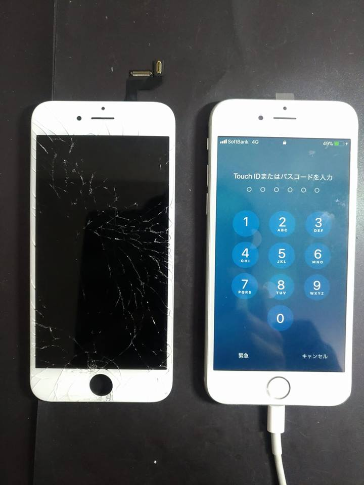 iPhone6s ガラス割れ&バッテリー交換修理