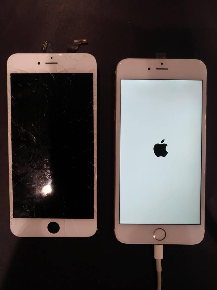 iPhone6Plus ガラス割れ修理